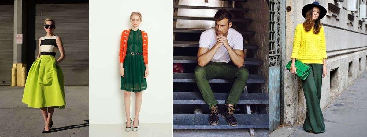 Combinar una prenda de color verde 46192b0db1d2a