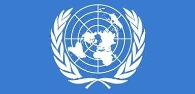 El emblema y la bandera de la ONU Descripcin