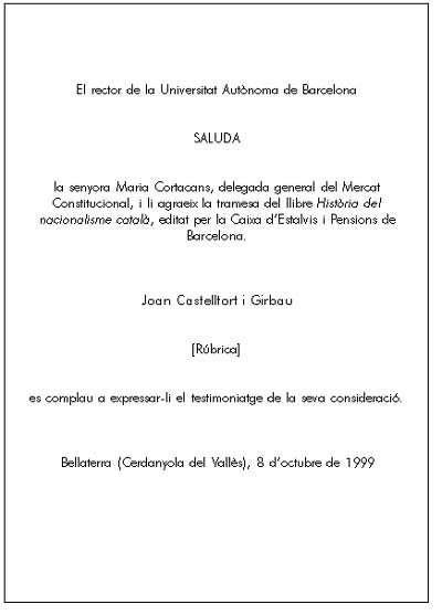 saluda del rector de la universidad aut u00f3noma de barcelona