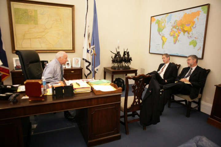 Vice President Cheney in his office at the White House