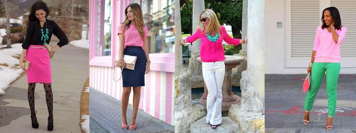 combinar una prenda de color rosa