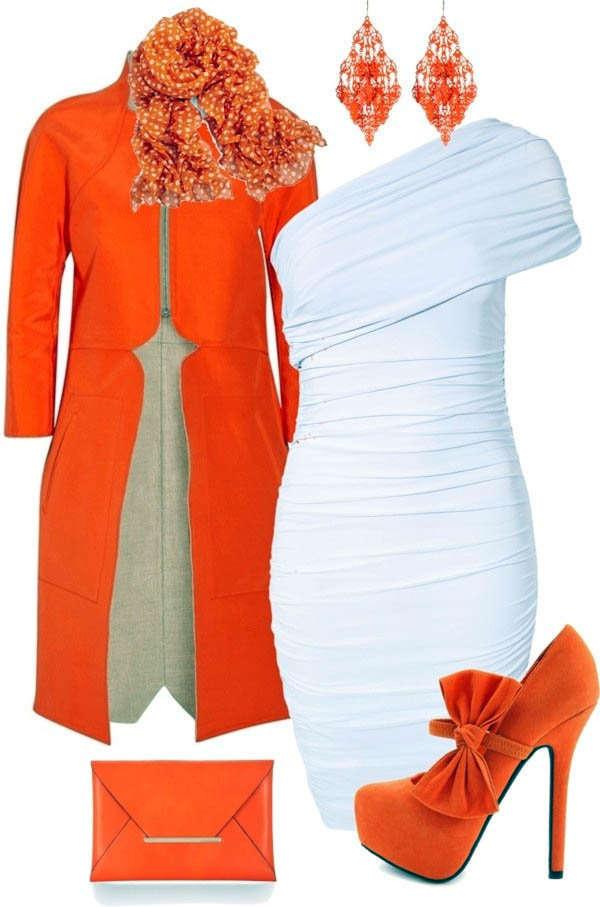Combinar una prenda de color naranja - Pared naranja combina con ...