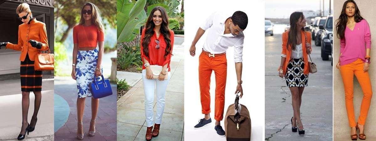 Combinar una prenda de color naranja - Que colores combinan con el lila ...