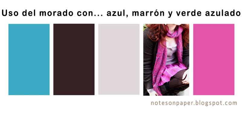Combinar una prenda de color violeta malva morado - Que color combina con el morado ...