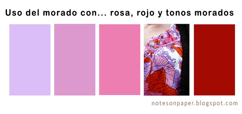 Combinar una prenda de color violeta malva morado - Colores que combinan con rosa ...