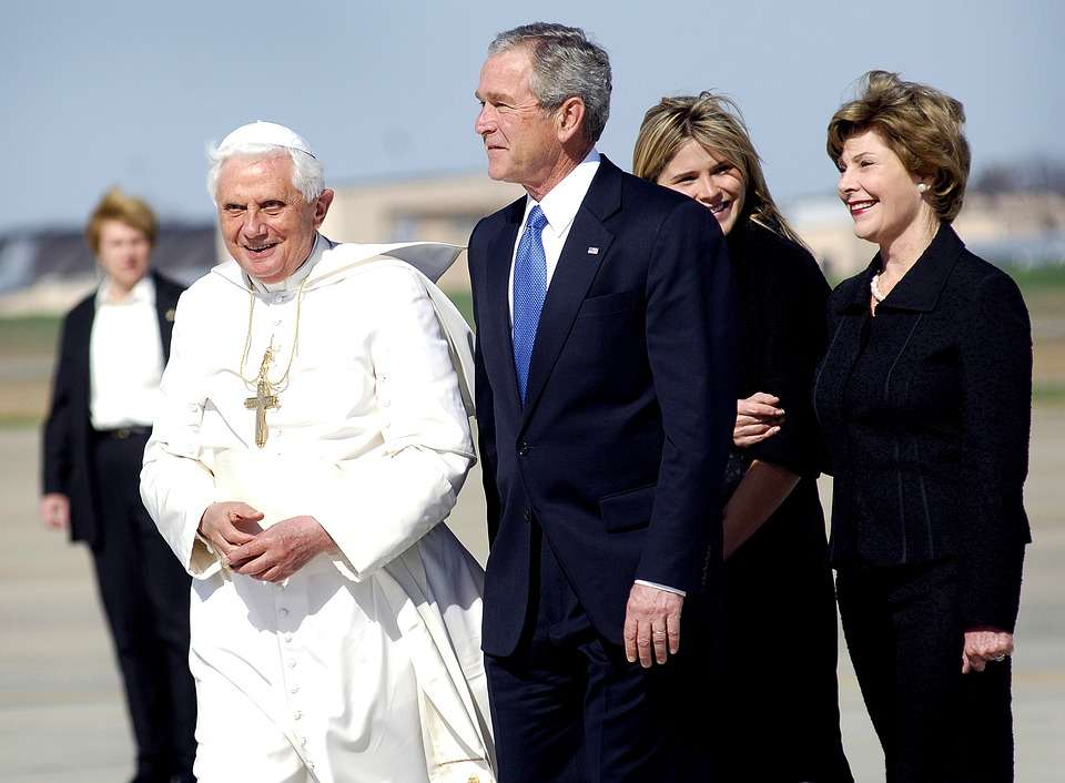 George Bush y Benedicto XVI