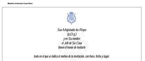 Modelo Invitación Casa Real
