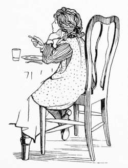 Imagen del libro 'Verses for Grannie. Suggested by the children ... Illustrated by D. A. H. Drew'. The British Gallery.