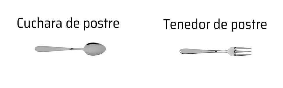 Tipos de cubierto piezas de la cuberter a for Postres de cuchara