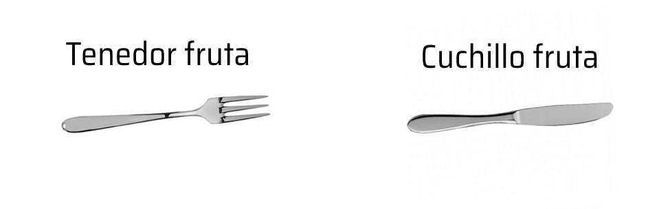 Tipos de cubierto piezas de la cuberter a for Cuchillo de fruta