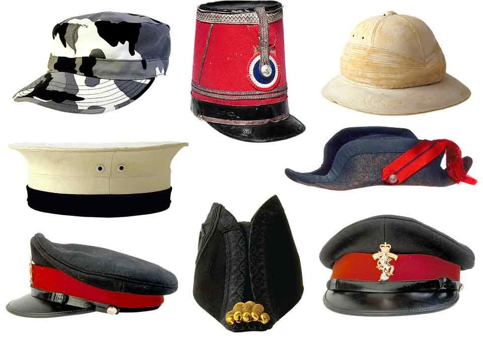 Historia del sombrero - Sombreros y gorras militares c6af6f1ee94