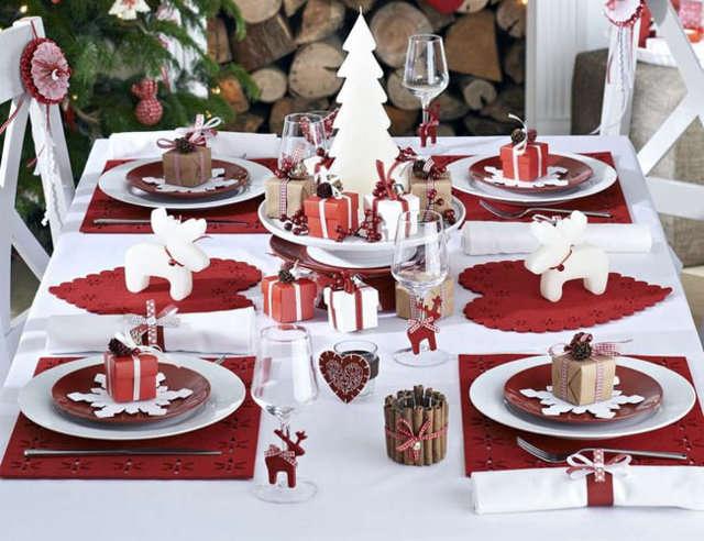 Decorar una mesa elementos decorativos - Adornar la mesa para navidad ...