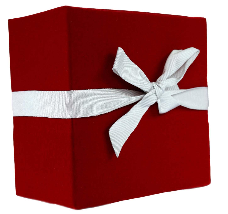 Regalo. Caja de regalo roja.