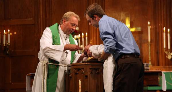 Ceremonia bautismal.