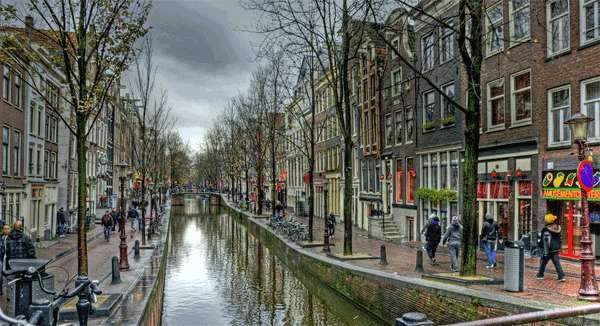 Distrito Red Light de Amsterdam, Holanda.
