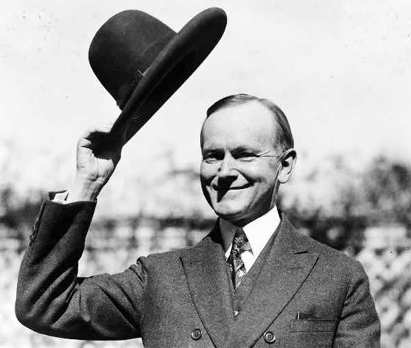 Quitarse el sombrero. Saludo U.S. President Calvin Coolidge. de542bce4d3
