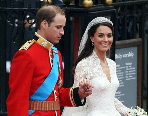 Enlace matrimonial del príncipe Guillermo y Kate Middleton.