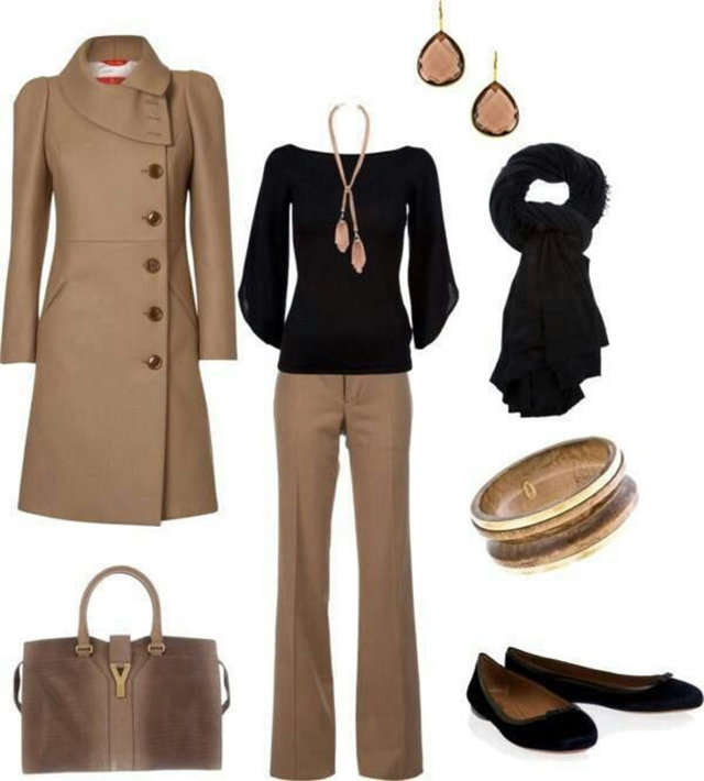 Combinar una prenda de color marr n - Colores que combinan con beige ...