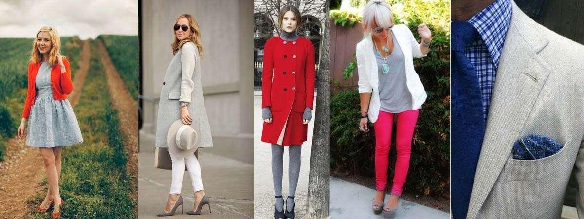 Combinar una prenda de color gris - Que colores combinan con el lila ...