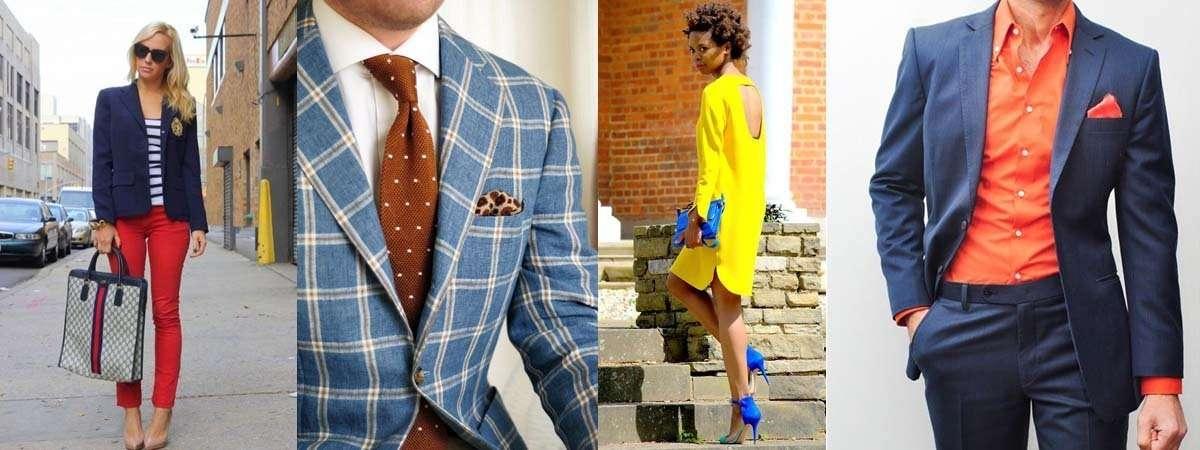 como usar azul para la ropa
