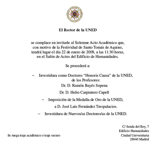 Ejemplo Carta De Invitacion Para Graduacion