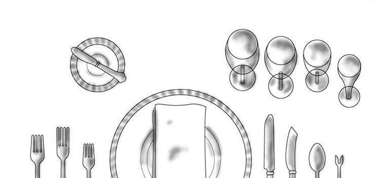 El orden correcto de las copas en una mesa de navidad for Orden de los cubiertos en la mesa