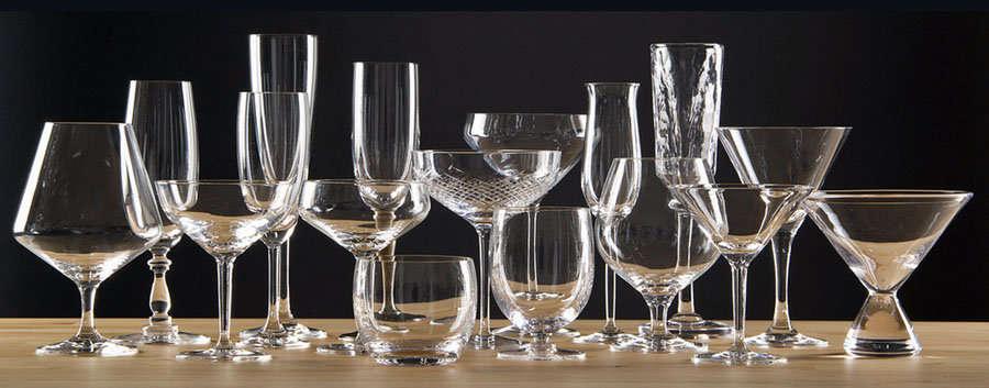 la cristaler a tipos de copas y su cuidado
