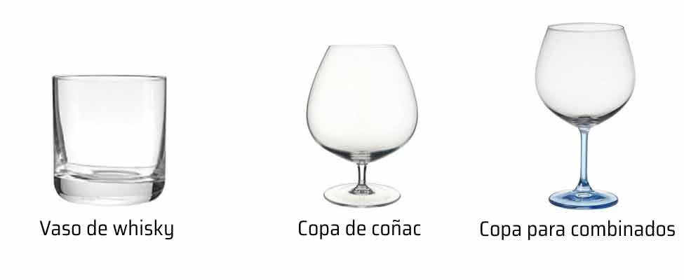 Tipos de copas para cada bebida formas y dise os de las for Copas y vasos para bar