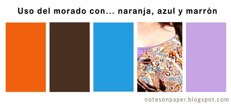 Combinar una prenda de color violeta malva morado - Combinar color marron ...