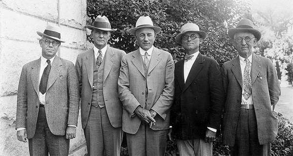 Supervisores del Condado de Orange, 1926.