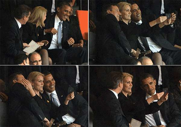Selfie Obama, Cameron y Helle Thorning.