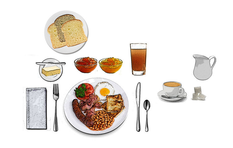 Desayunos y meriendas otros tipos de comida for Mesa desayuno