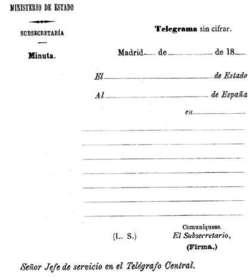 Documento diplomático.