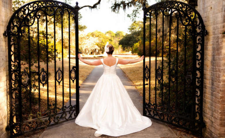Vestido de novia. Holiday Cottage - Brookgreen Gardens