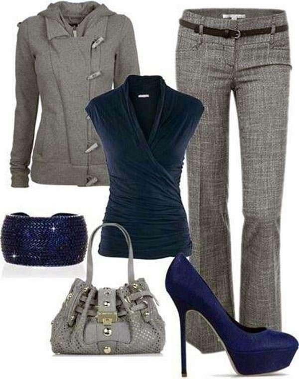 Combinar una prenda de color gris - Colores que combinan con gris ...